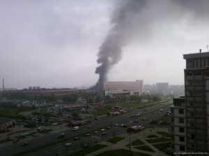 Четверо сотрудников МЧС погибли во время тушения склада в Минске