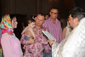 Степан Меньщиков крестил сына