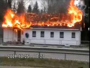 Под Минском сгорело придорожное кафе